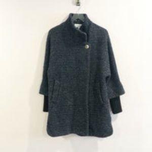 Calvin Klein Blue Gray Wool Peacoat Sz 6